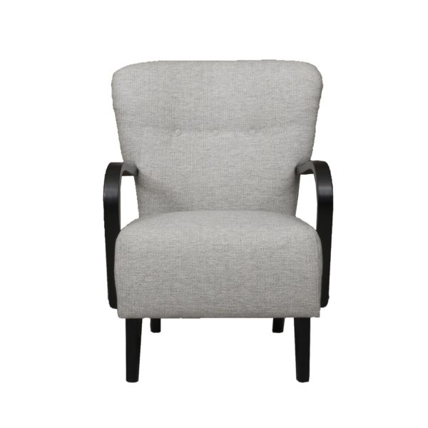 50 luvun harmaa nojatuoli, Brita tuoli.