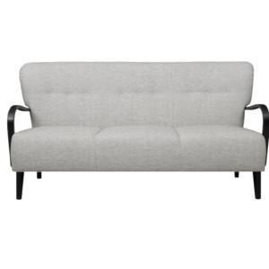 Kolmen istuttava Brita sohva, puiset käsinojat