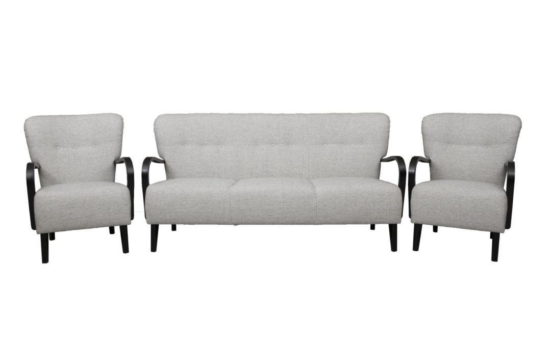 Brita 3-istuttava sohva + 2 kpl tuoleja