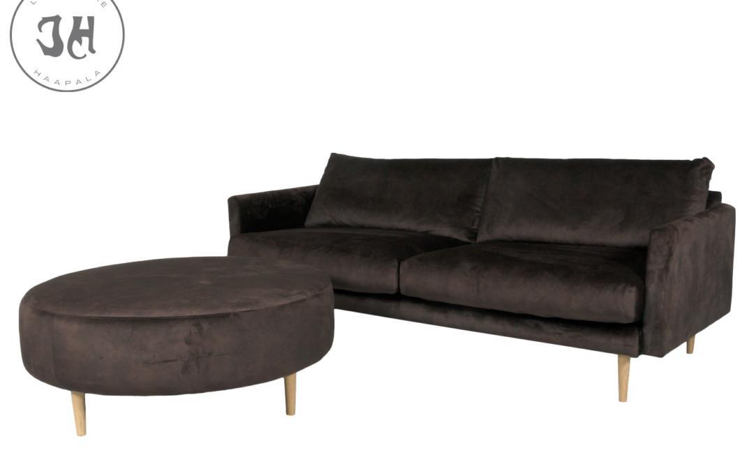 Fly 3-istuttava sohva ja rahi