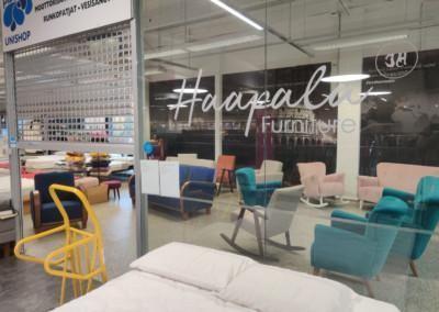 Haapala Furnituren showroom Vantaalla